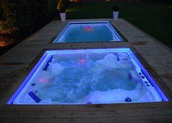 swim spa ir hot tub montavimas